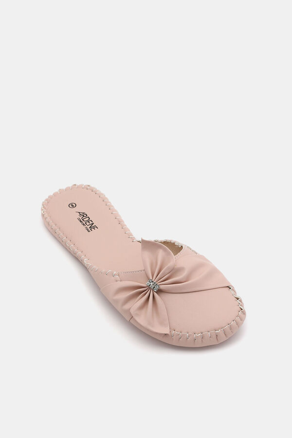 30c083dd5d78d8 Images. Bow Bow Faux Leather Slides ...