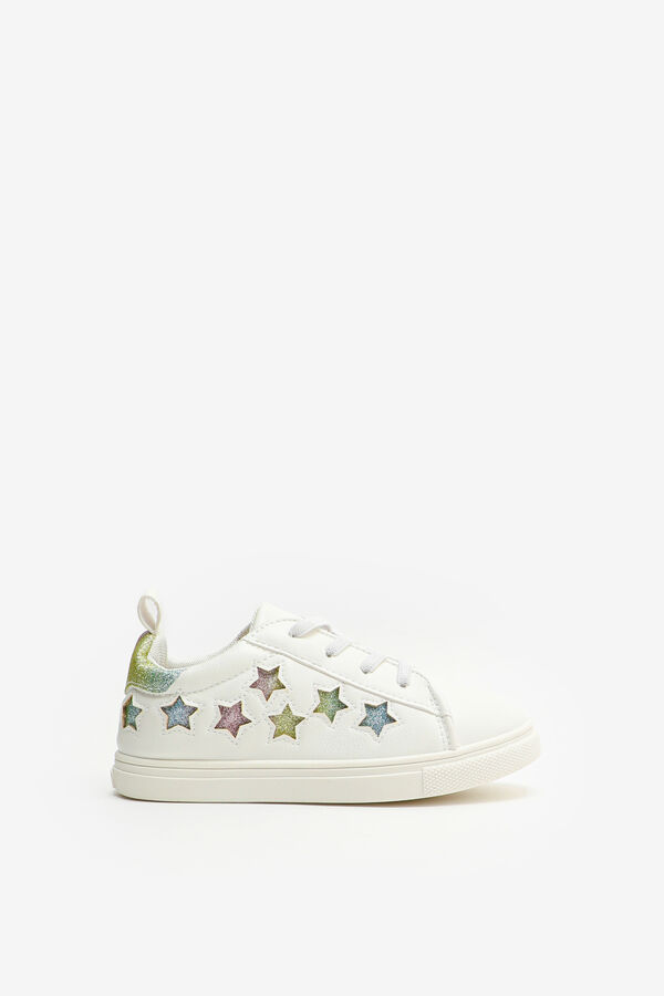 Rainbow Star Laced Sneakers for Girls