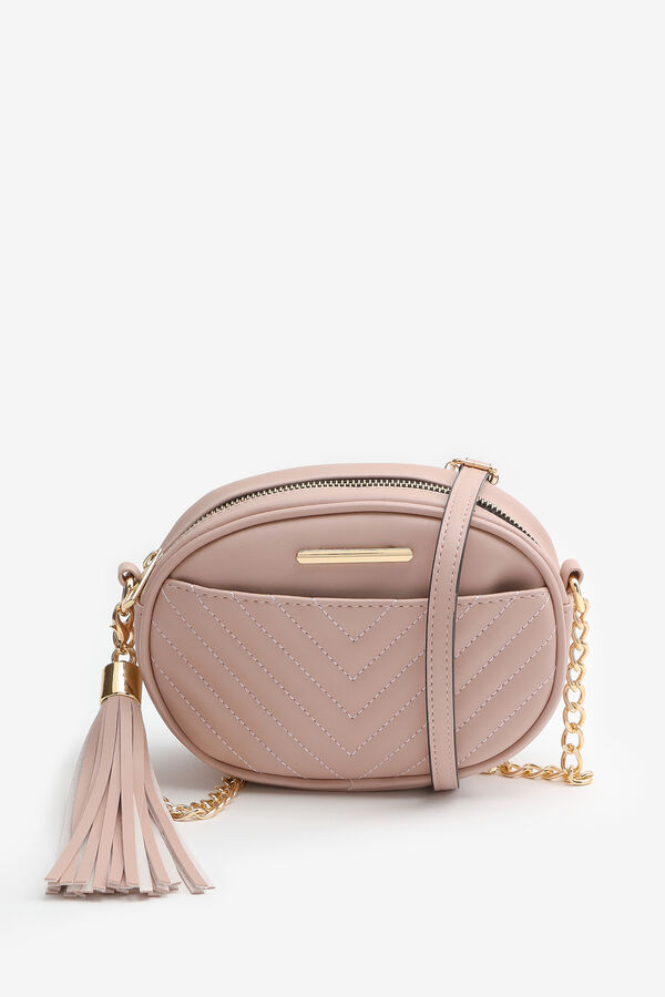 Oval Quilted Crossbody Bag