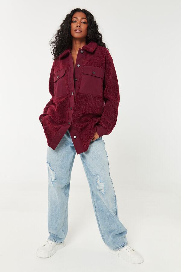 Veste-chemise en sherpa ample