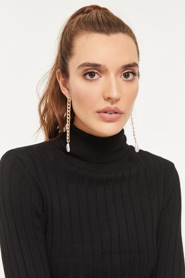 Drop Faux Pearl Earrings