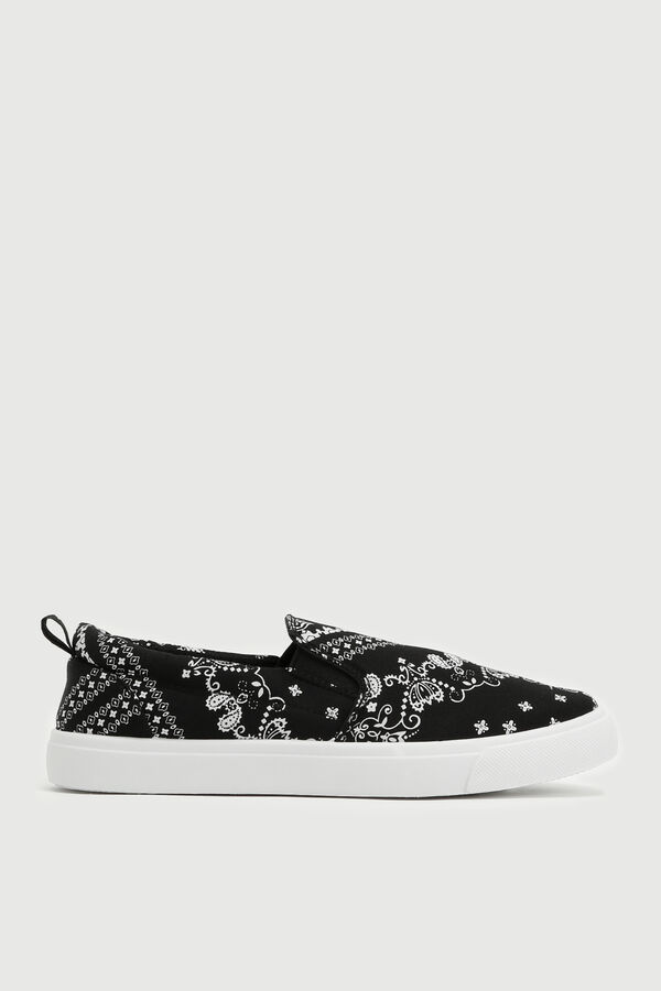 Paisley Canvas Slip-On Sneakers