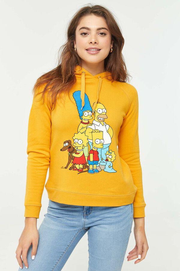 Molleton à capuchon moutarde Les Simpson