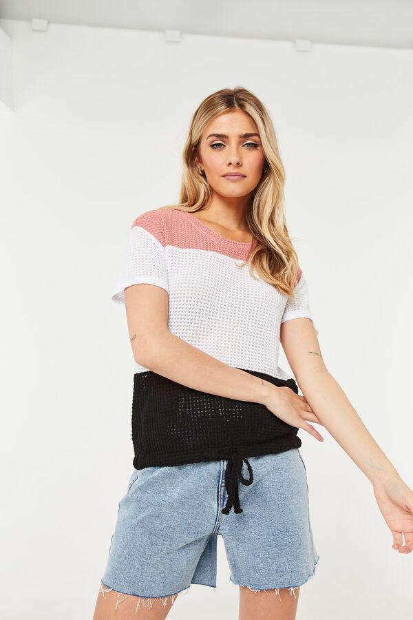 Crop Color Block T-shirt