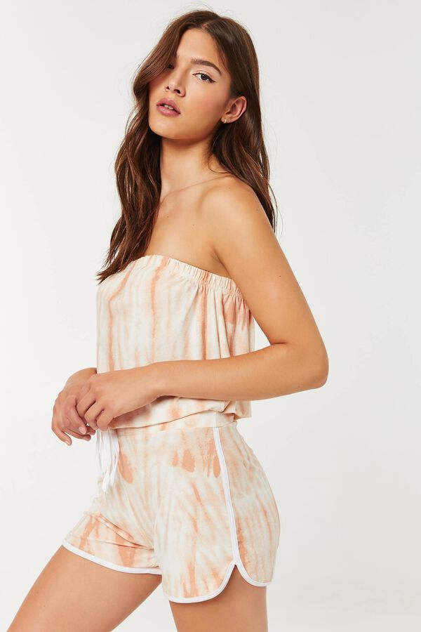 Tube Romper with Piping