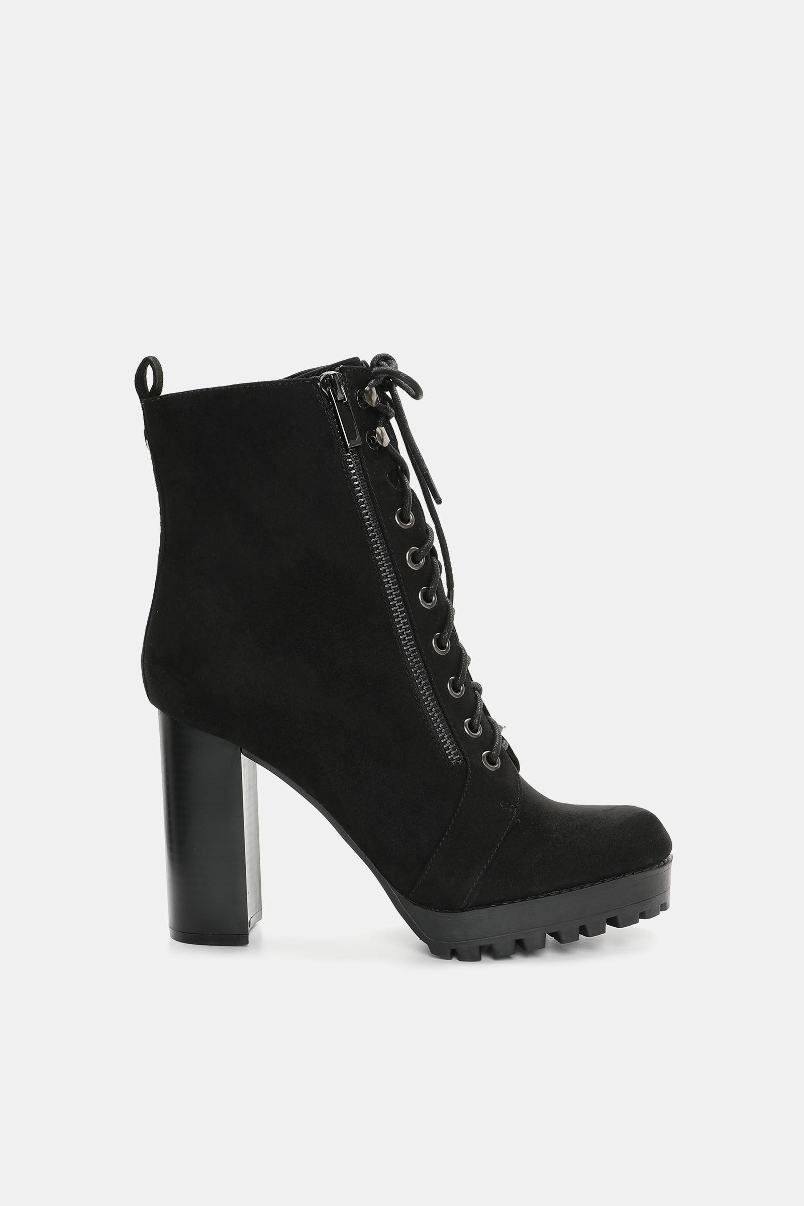 Kendall \u0026 Kylie Block Heel Combat Boots
