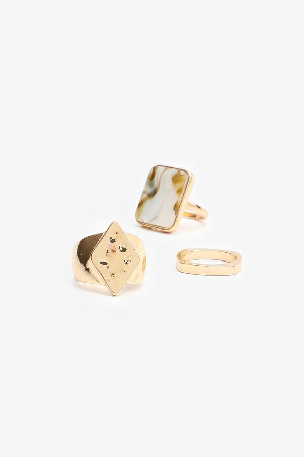 3-Pack Marble Rings