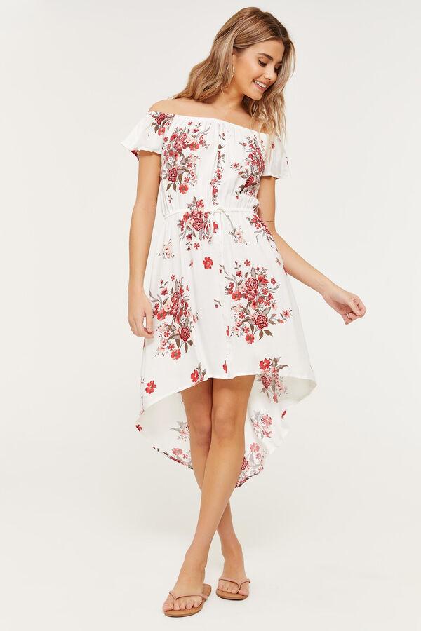 3caa5aca95a64 Ardene Ardene Women s Floral Off Shoulder High Low Dress