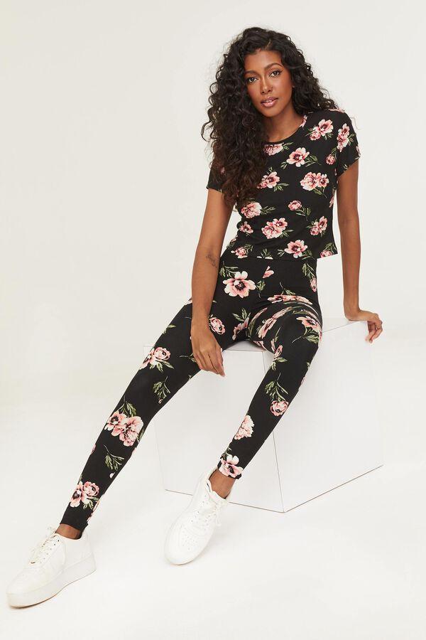 High Waist Floral Leggings