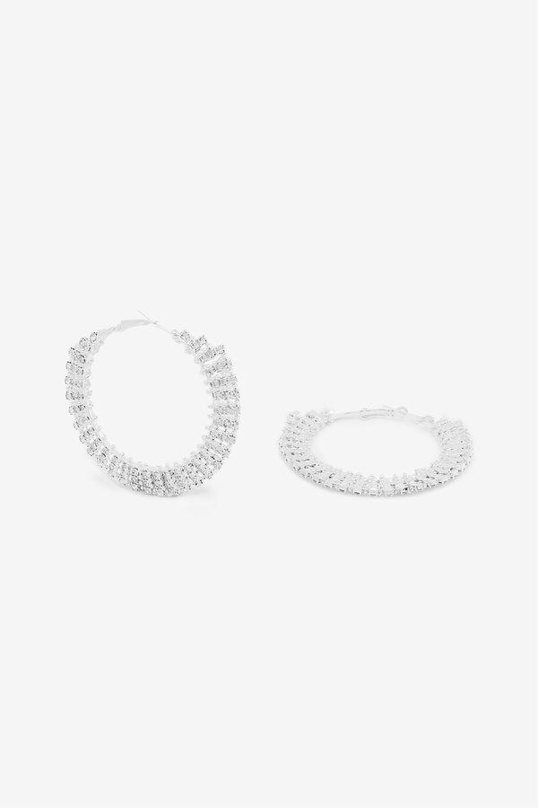 Gemstone Hoop Earrings