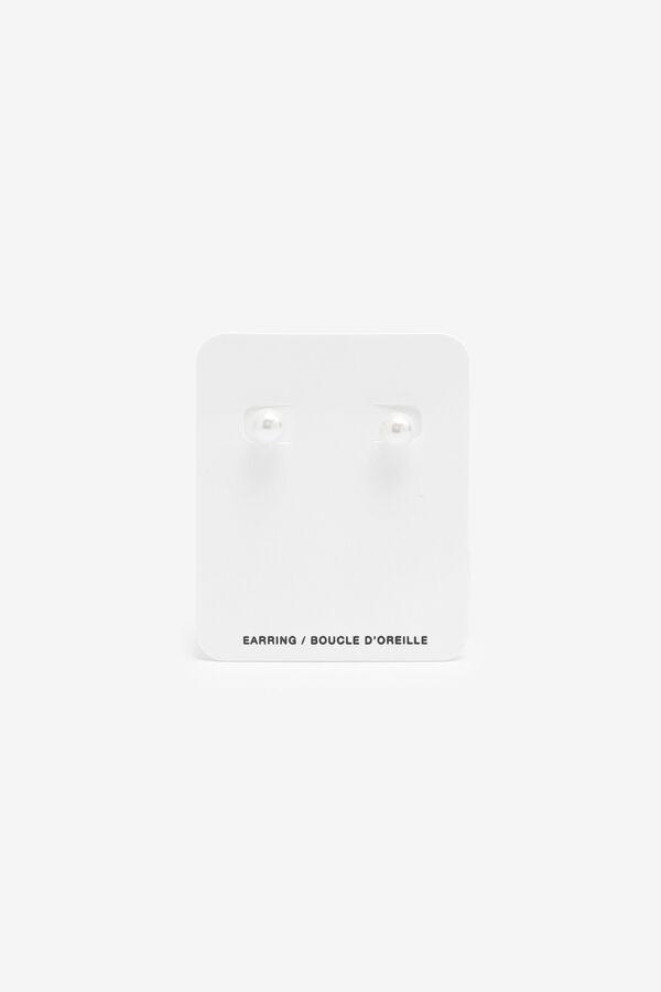 Sterling Silver Faux Pearl Earrings