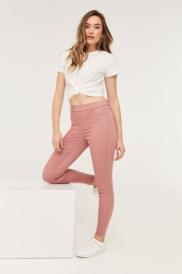 High Rise Slip-On Pants