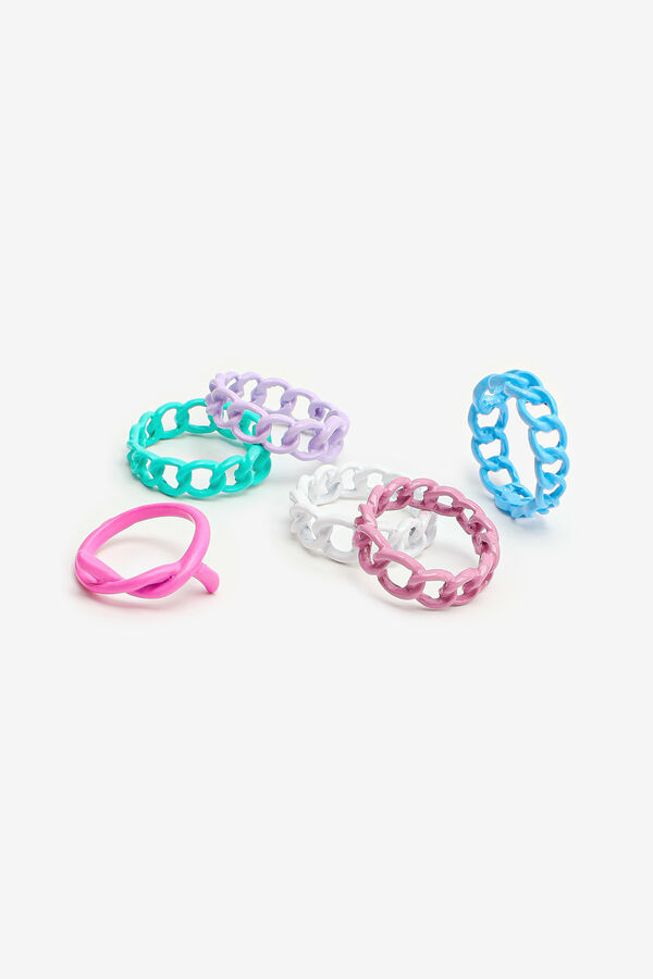 Colorful Chain Link Style Rings
