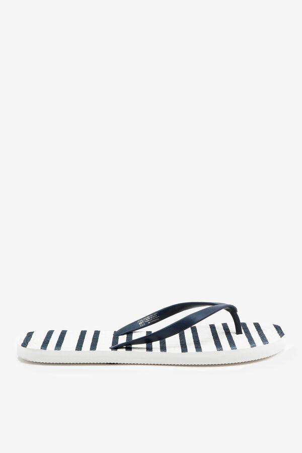 Flip-flops rayées en cordon