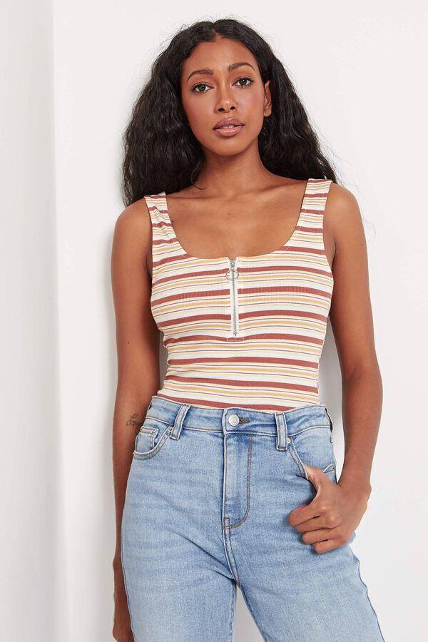 Zipped Striped Cami