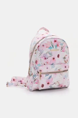 0129a505cb5a Floral Faux Leather Backpack