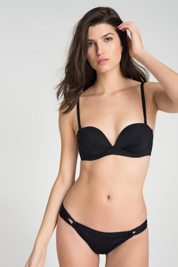 635f544b85b16 Ardene Ardene Women's Ruched Strapless Bikini Top, black, fall winter 2018  CLOTHING, ...