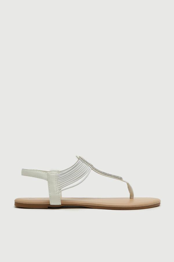 Strappy Gemstone T-Strap Sandals