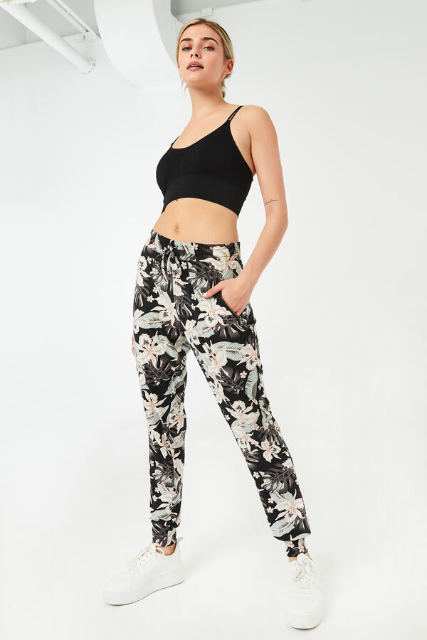 Slouchy Tropical chambray Joggers