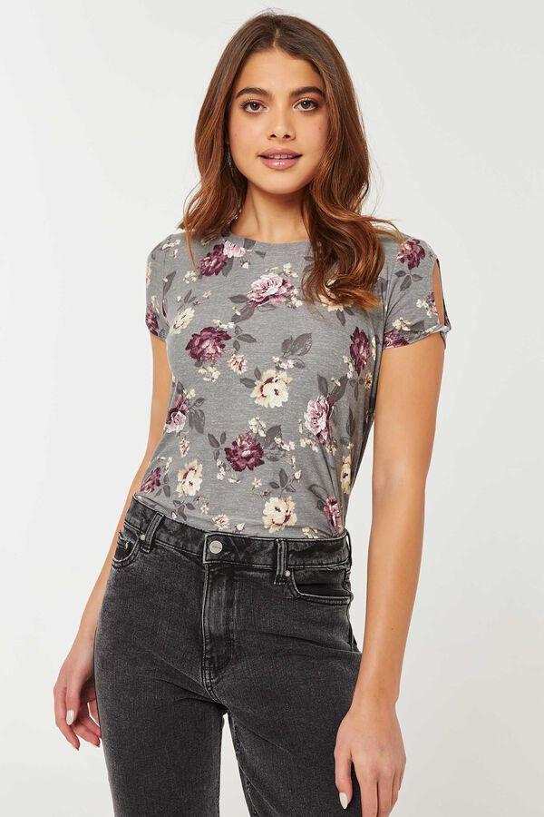 T-shirt tunique fleuri très doux