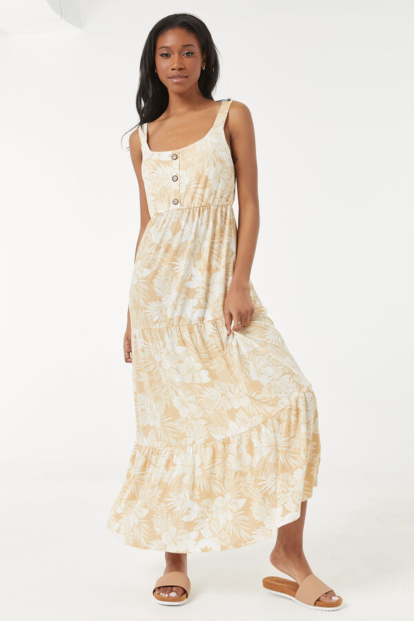 Ruffled Maxi Floral Dress