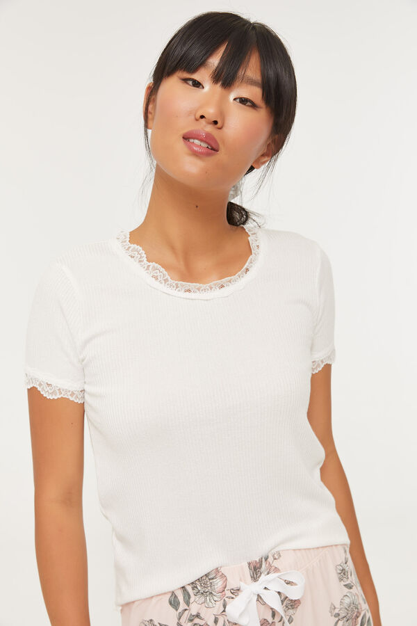 Ribbed Knit Lounge Tee