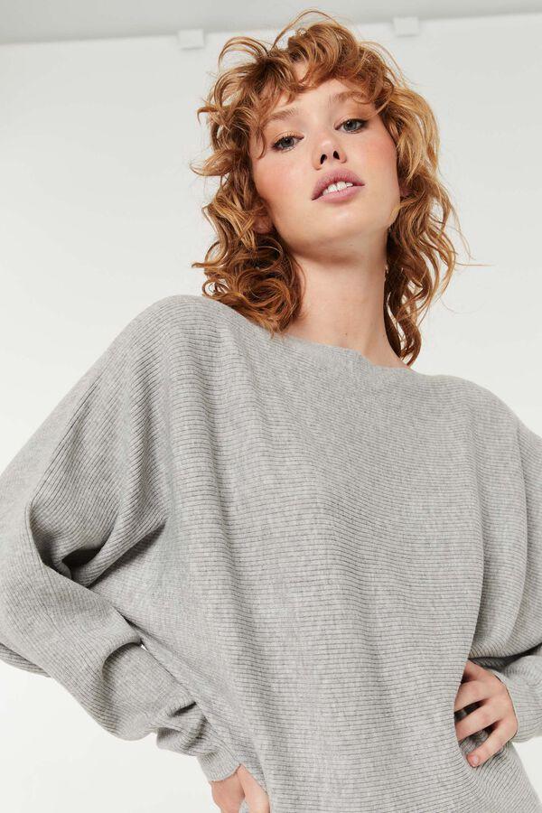 Ribbed Dolman Sweater