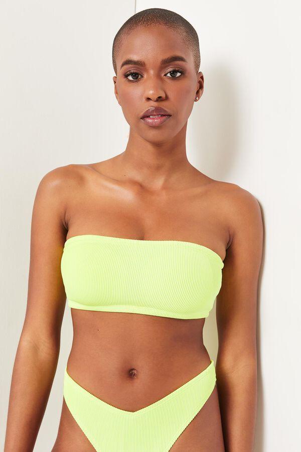 Neon Bandeau Bikini Top