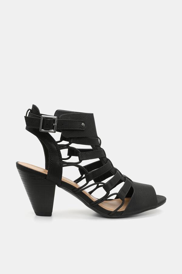 6113ad7d52 Ardene Ardene Women's Caged Block Heel Mules, black, spring summer 2018  SHOES, ...
