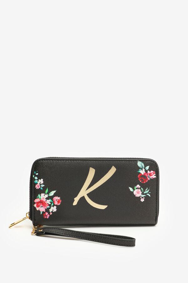 Portefeuille accordéon à lettre K