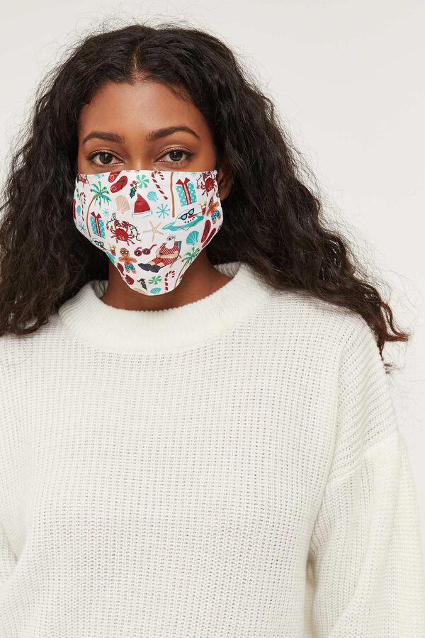 Summer Santa Reusable Face Covering