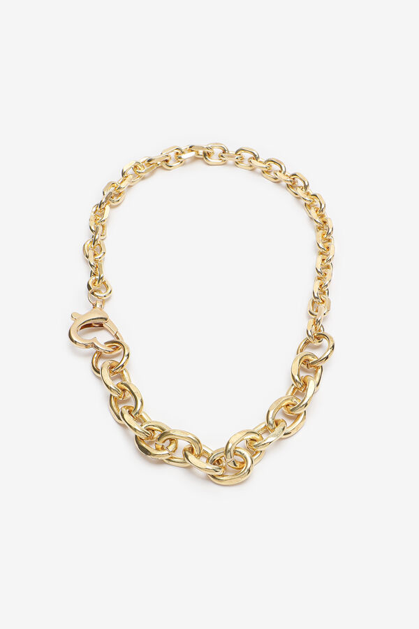 Gold Mixed Link Chain Necklace