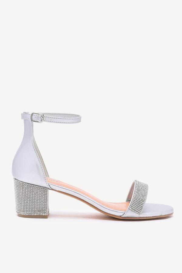 Gemstone Block Heel Sandals