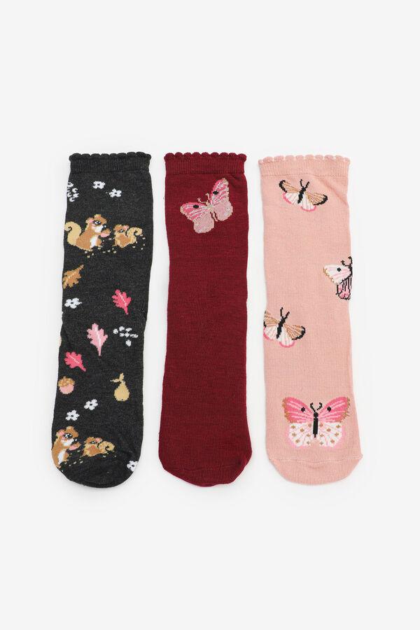 Chaussettes papillons et écureuils pour filles