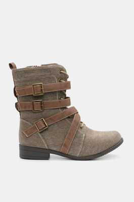 c9b705871b04 Buckled Canvas Boots