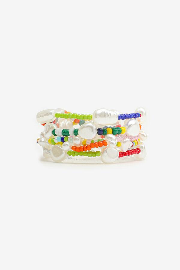 5-Pack Multicolored Bead Bracelets