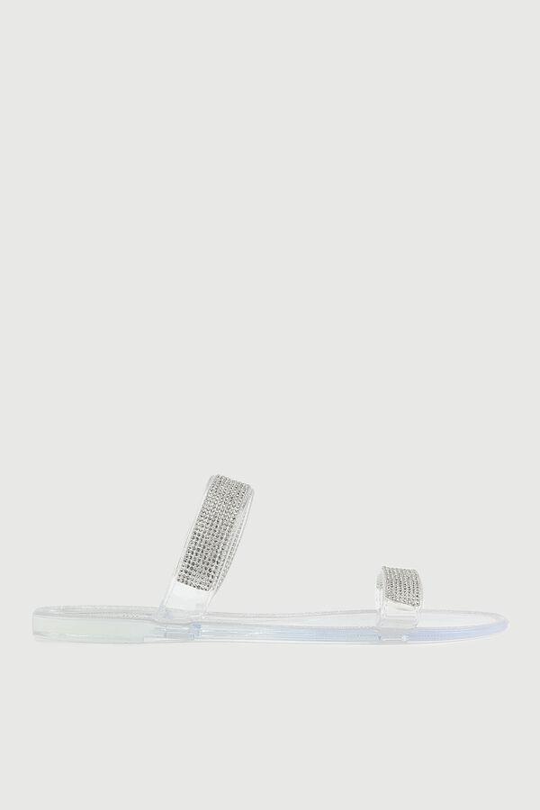 Sandales en gelée avec cristaux