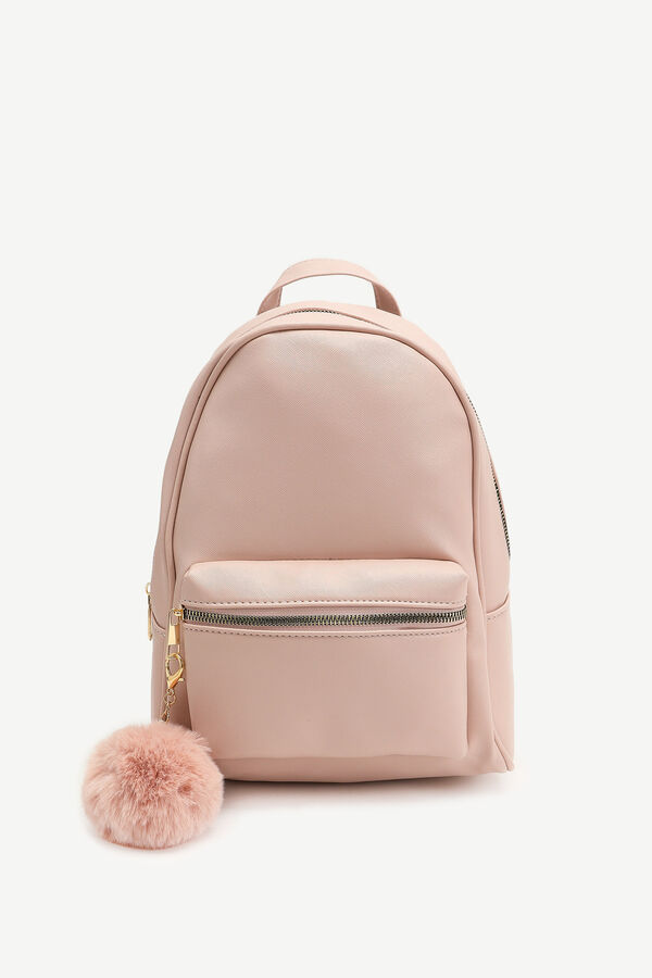 Simple Faux Leather Backpack