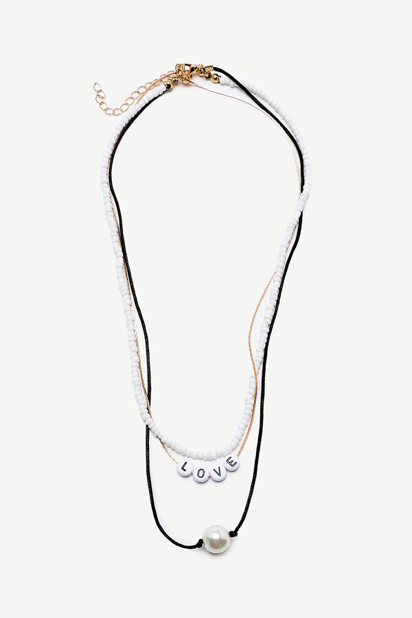 Collier superposé à pendentif de perle