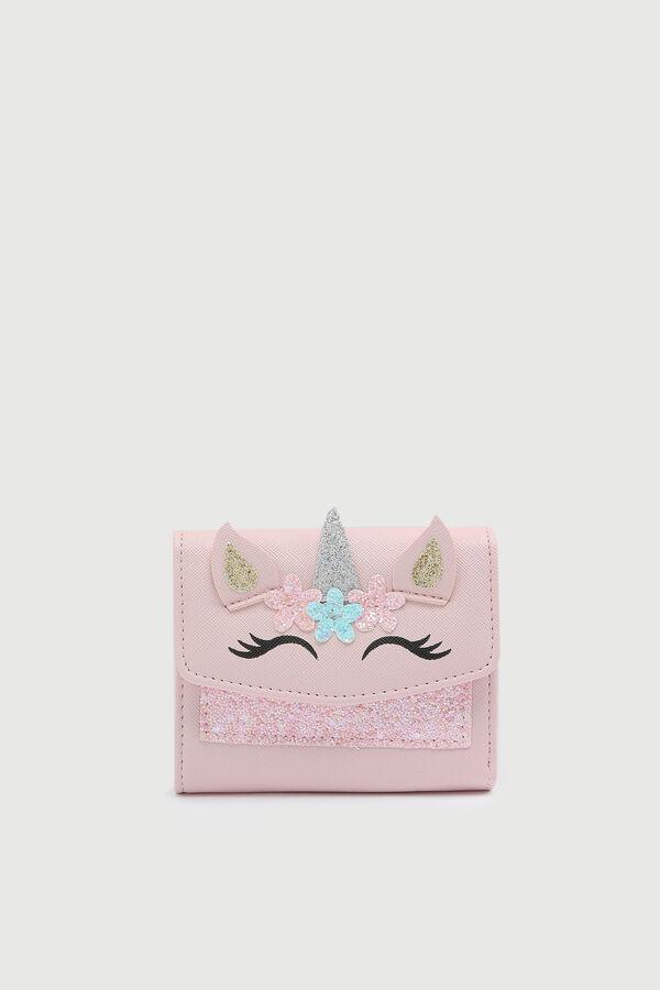 Portefeuille plié licorne pour filles
