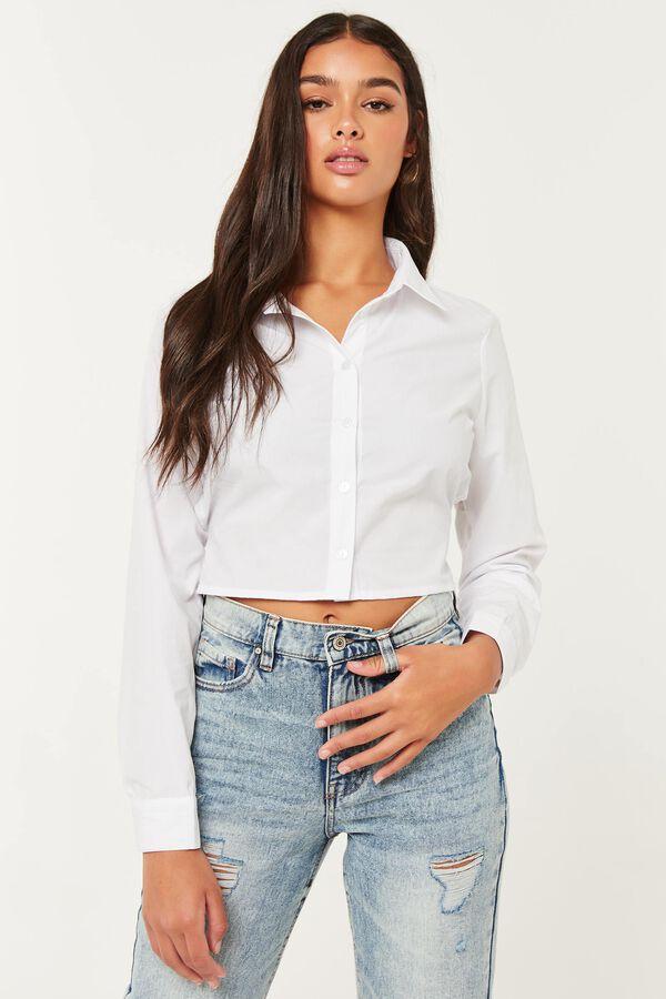 Chemise popeline boutonnée à dos noué