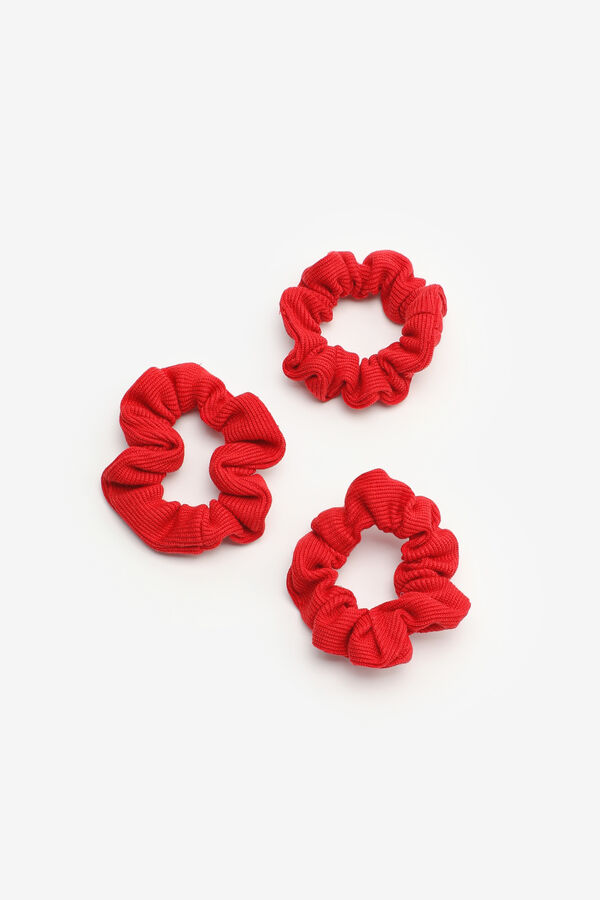 3-Pack Ribbed Scrunchies