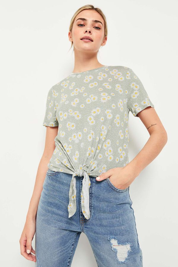 Ditsy Floral Front Tie Top