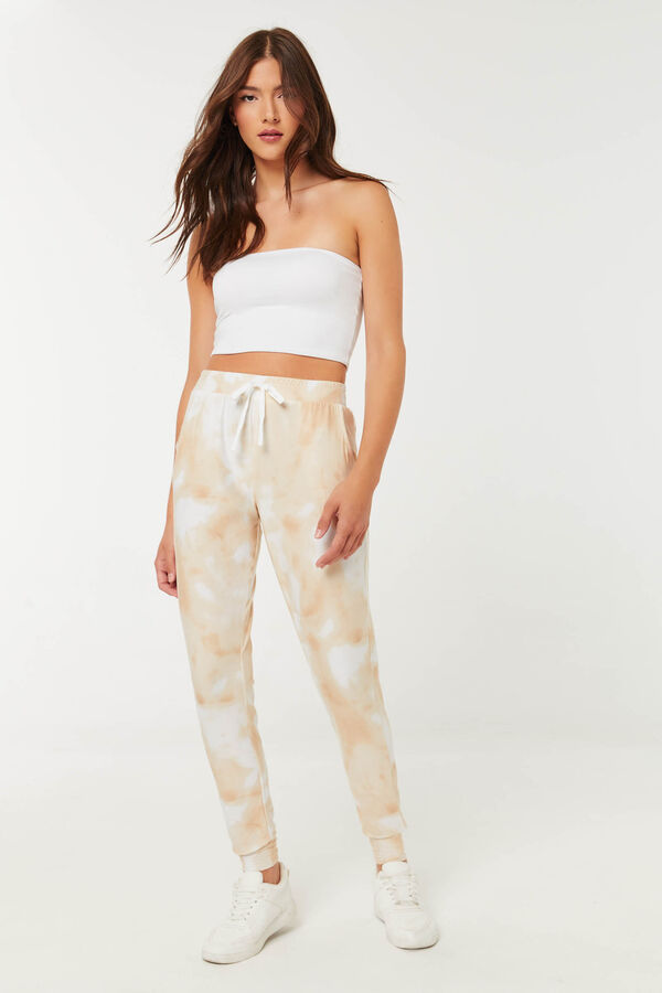 Tie-Dye Joggers with Side Pockets