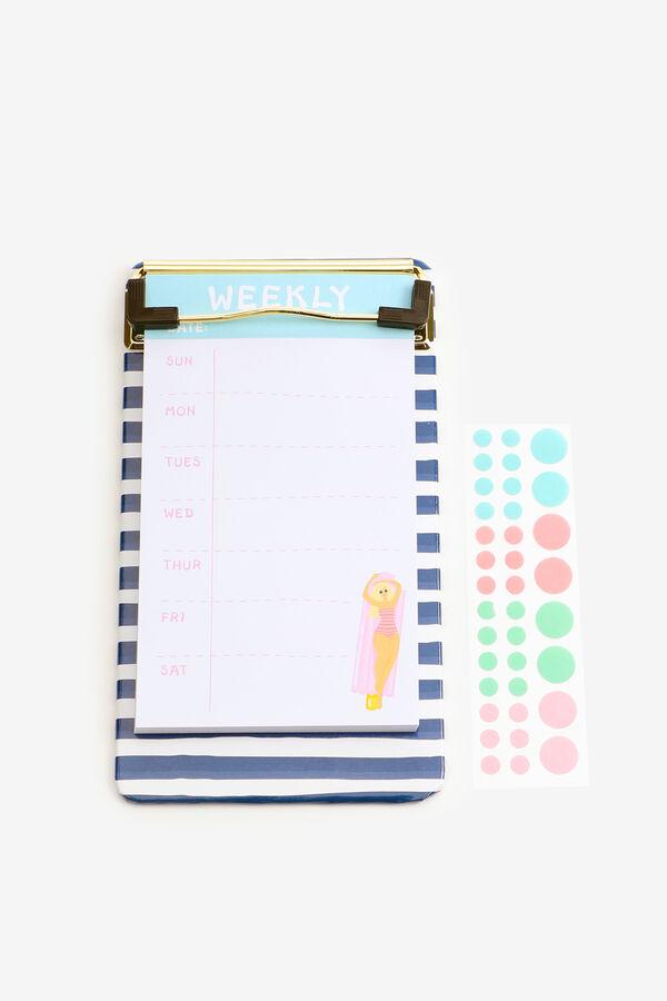 Planche à pince avec bloc-notes et autocollants