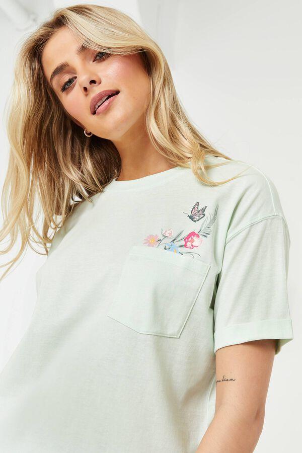 T-shirt papillon en coton