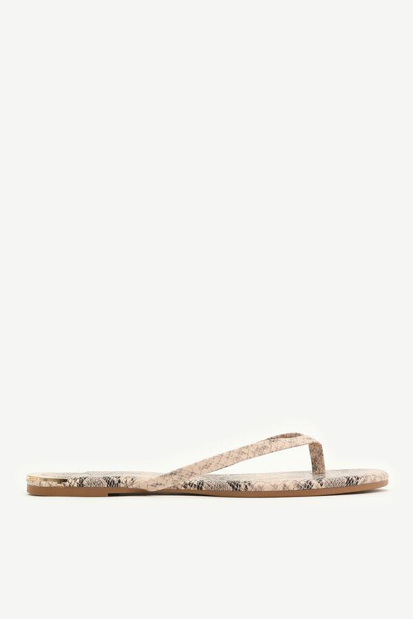 Snakeskin Flip-Flops