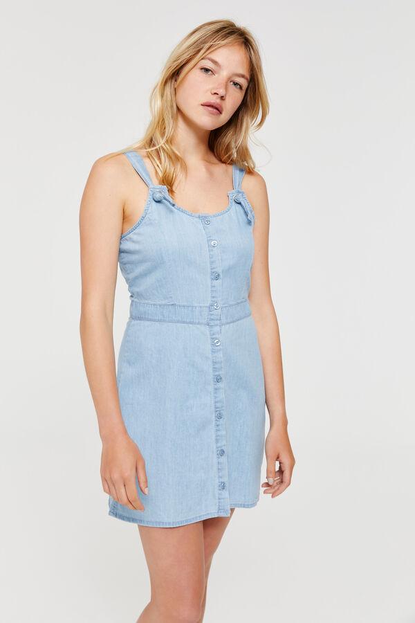 fa5ca5cd2cabf Ardene Ardene Women's Sleeveless Denim Mini Dress, blue, spring summer 2018  CLOTHING, ...