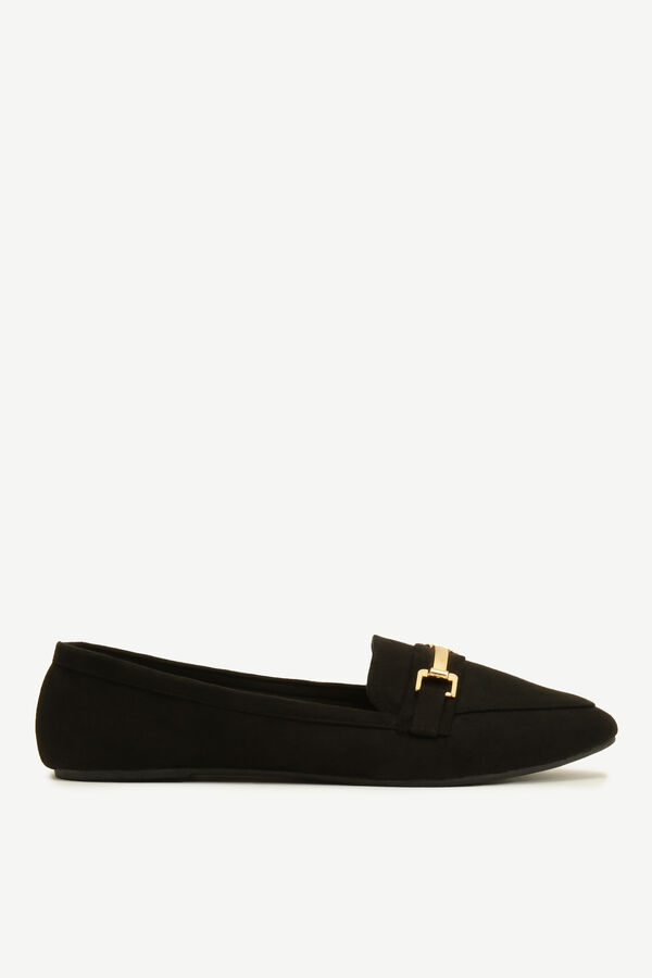 Faux Suede Pointy Loafers