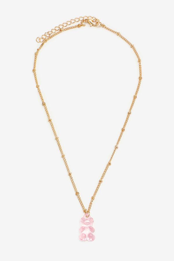 Collier à perle avec pendentif d'ourson